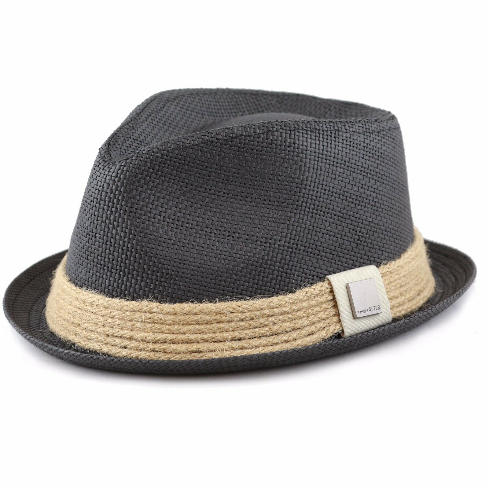 c7cd98aa0451e THE HAT DEPOT Womens Short Brim Sun Straw Fedora Hat with Raffia ...
