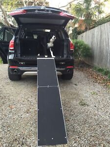 Large-FOLDING-PET-DOG-RAMP-LADDER-STEP-NON-SLIP-SURFACE-183CM-JET-PR1