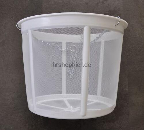 30cm Filter Wasserfilter Siebkorb für Zisternen Erdtank Flachtank Regentank Weiß