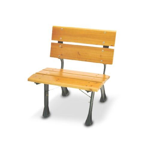 Poltrona legno ghisa trattata per esterno 60xh70 panchina arredo giardino 06361