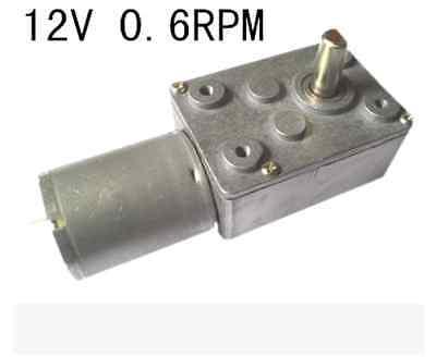 High torque Turbo worm Geared motor  GW370 12V 0.6rpm DC motor