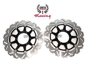 Front Brake Disc Rotors Set For Honda RVT1000R RC51 2000-2007 Wave Rotors Black