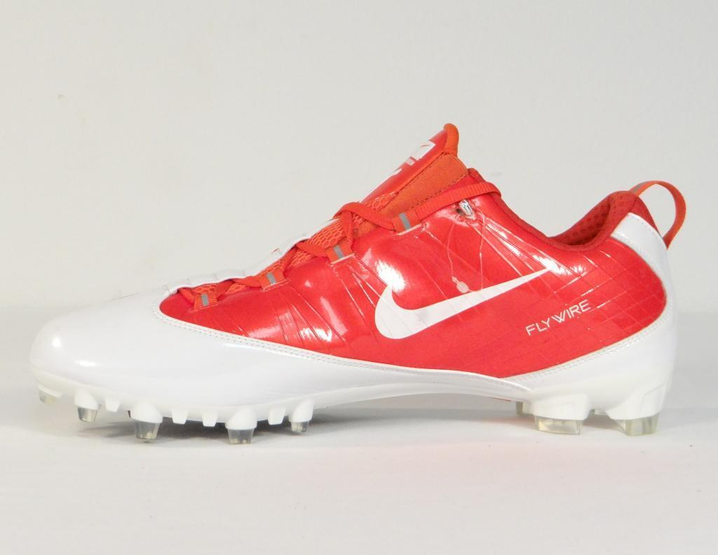 Nike Zoom Vapor Carbon Flywire TD Low Football Cleats orange & White Mens NWT