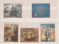 Paraguay stamp set MNH Michel 4339 - 4343 Scott c 781 - 785 ships naval paints