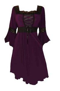 Plus-Size-Black-Lace-and-Purple-Gothic-Renaissance-Corset-Dress-1X-2X-3X-4X-5X