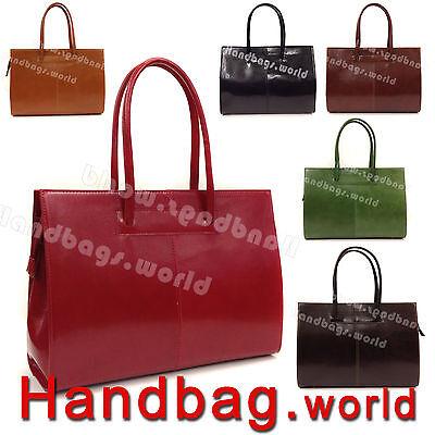 Ladies Italian Genuine Leather Briefcases Bag Laptop Official Shoulder Handbags