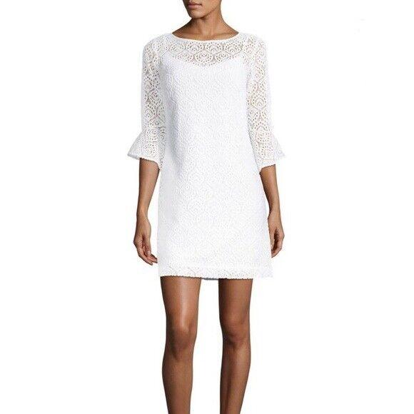 Vestido de encaje LILLY PULITZER FONTAINE, blancoo Resort,  nuevo con etiquetas  188, Xs  A la venta con descuento del 70%.