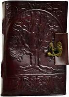 """5""""x7"""" Locking Leather Bound Tree of Life Book of Shadows, Journal, Diary!"""