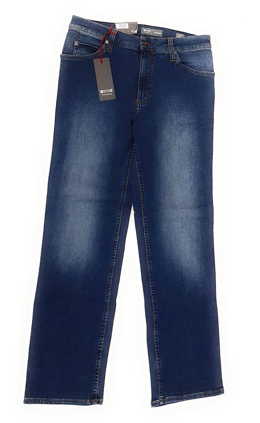 MUSTANG Herren Jeanshose Tramper Slim Medium Straight 1004879 Jeans Blau Blau    Neue Sorten werden eingeführt