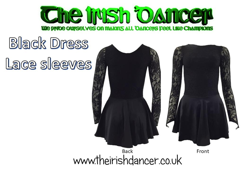 Irish Dance Black Lace Dress - Child/Adult/Ceili/in between