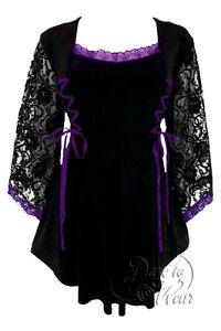 26 Stretch dal Black Top Purple Corset 10 Anastasia Gothic Style al 28 12 Taglia UnSqT7Tw