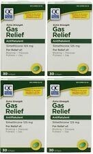 4 Pk Quality Choice Extra Strength Gas Relief Simethicone 125mg Softgel 30 Ct ea