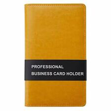 Leather Business Card Book Holder Professional Business Cards Book Orange