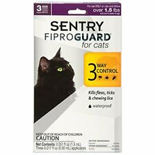 Sentry Fiproguard 02954 Flea and Tick Squeeze-on 3 Count