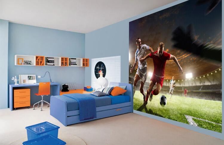 Cool Football stadium night floodlit Kids Boys wallpaper wall mural 32457955