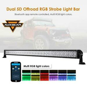 52 inch Curved V-Series LED Light Bar RGB CREE Combo-300W 30000LM
