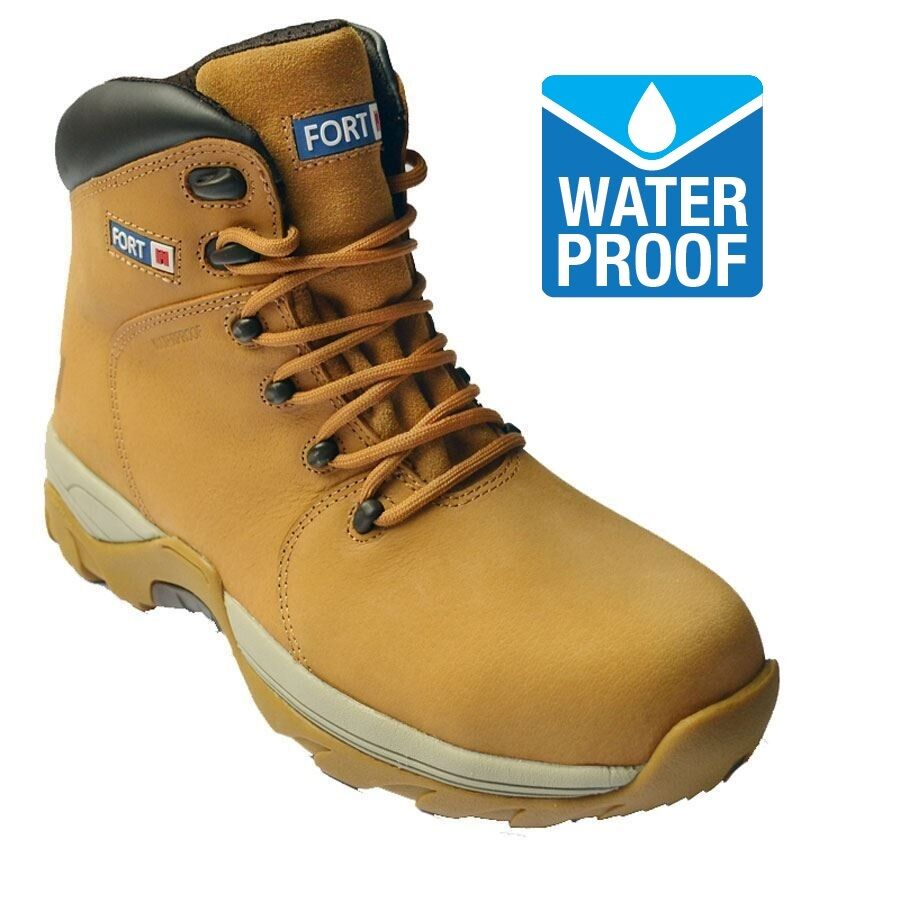 Vermindert Wasserfest Sicherheit Arbeitsstiefel Nubuk Leder Stahl Kappe Kappe Kappe Defiance    | Online einkaufen  aa6356