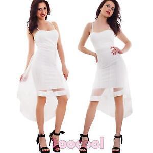 Caricamento dell immagine in corso Vestito-donna-mini-abito -asimmetrico-velo-tubino-party- 01e066a7b54