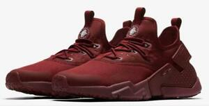 purchase cheap 53d78 0d0ac Details about NIKE AIR HUARACHE RUN DRIFT AH7334 600 TEAM RED  (MAROON)/WHITE - MESH/NEOPRENE