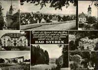 BAD STEBEN Bayern 8 Ansichten s/w Mehrbildkarte gelaufe Postkarte Ansichtskarte
