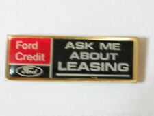 Ford Credit Pin Badge Ford Leasing Pin ( Older pin ) Auto Pin
