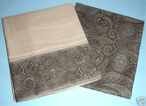 Sferra Bruno Pillowcase & Boudoir Sham 2 PC Challis Paisley Egyptian Cotton New