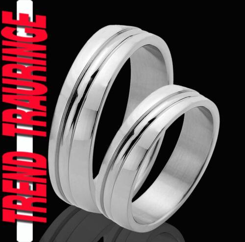 2 Partner Ringe Eheringe Trauringe Verlobungsringe Gravur Gratis TE41