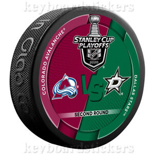 2020 Stanley Cup Playoffs Dueling Hockey Puck Colorado Avalanche vs Dallas Stars