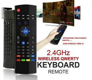 Telecomando per tastiera wireless Air Mouse MX3 per Android Smart TV Box