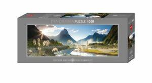 Heye Panorama 1000 Piece Puzzle Jigsaw Milford Sound Humboldt Edition HY29606