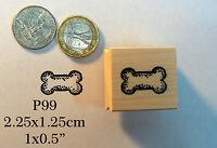 P99 Dog Bone Rubber Stamp Wm