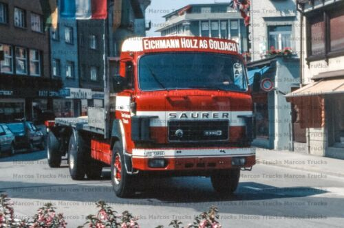 LKW Foto Saurer D330 Hängerzug Holz Sankt Gallen 10x15cm//LF274