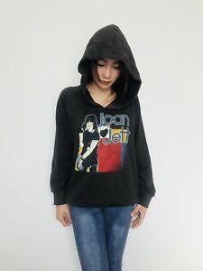 JOAN-JETT-BLACKHEARTS-Women-039-s-Hoodie-Jumper-Sweater-T-Shirt-Dark-Gray-S-M-Bunny