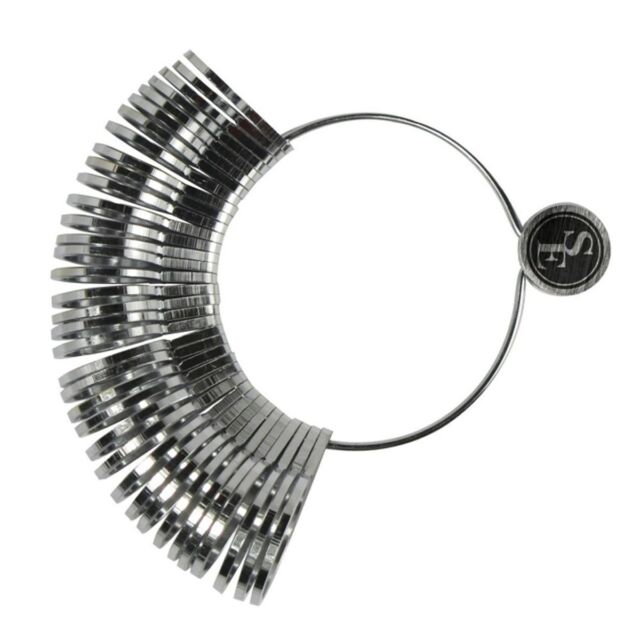 """36 pc Metal Finger Ring Sizer Stainless Steel USA Jewelry Gauge Sizes 1""""-15 1/4"""""""