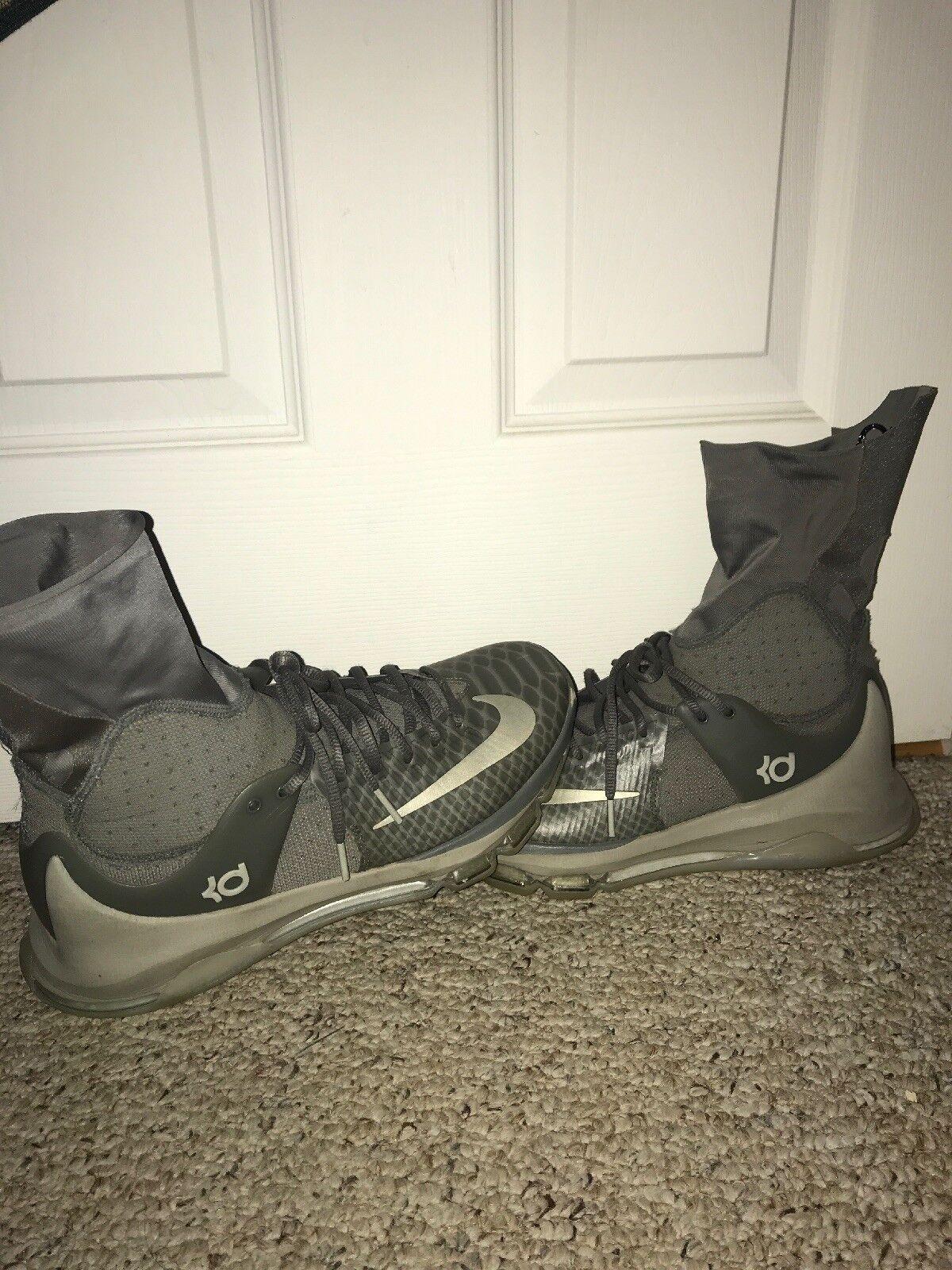 Nike KD 8 Elite Grey White Basketball shoes 834185-001 Mens Size 9