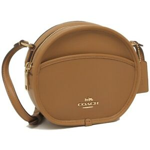 New Coach F27971 Canteen Crossbody In Smooth Calf Leather Light Saddle $275