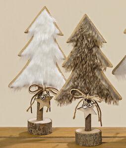 Weihnachtsdeko Baum Holz.Tanne Baum Holz Mit Fell 2er Set 31 Cm 1001085 Aufsteller