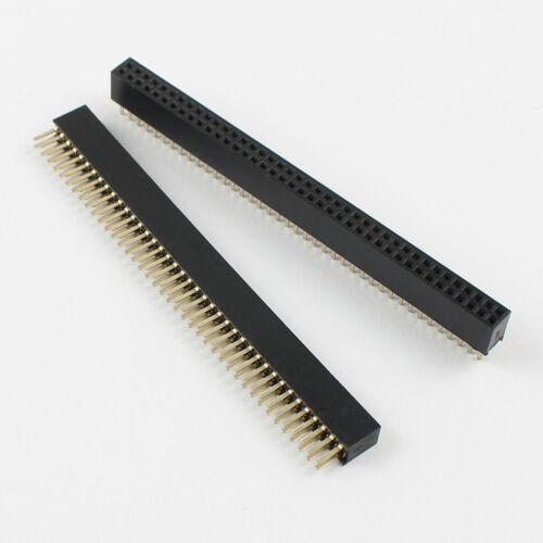 5Pcs Gold Plated 1.27mm Pitch Double Row 2x40 Pin 80 Pin Female Header Strip
