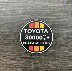 Toyota 300k Mileage Club Sticker Decal Tundra Tacoma 4X4 4Runner Fj Cruiser TRD