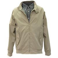 Men's Paul Berman Navy / Stone / Wine causal Harrington Jacket S - 3X 52120