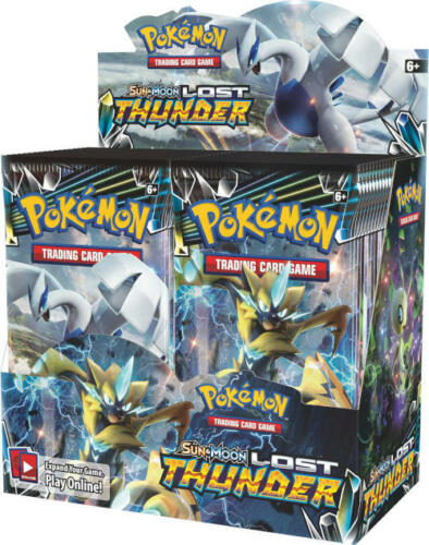 Pokemon TCG SM8 English Lost Thunder Booster Box 36ct FACTORY SEALED!!