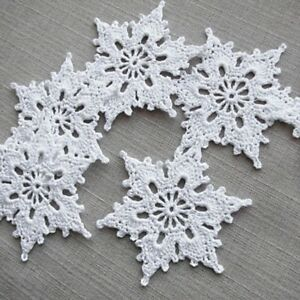 Crochet Christmas Ornaments.Details About Handmade Crochet Christmas Tree Baubles Christmas Ornaments 1set Of 10 Snowflake