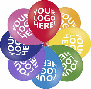 50 Personalized Custom Printed Balloons Metallic Shiny Colours Helium Quality