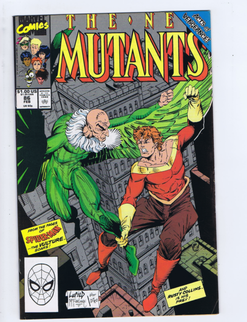 New Mutants #86 Marvel 1990, First Cameo Appearance Of Cable, the Vulture Story