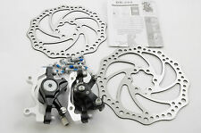 ZOOM DB-280 FRONT & REAR DISC BRAKES, FULL SET CALIPERS , ROTORS , FITTINGS NEW