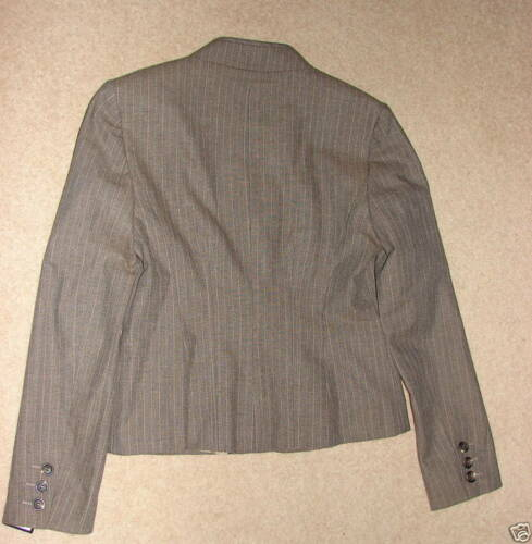Diff Sizes-£65.00 Next Brown//Beige Wool Blend Modern Suite Jacket NEW