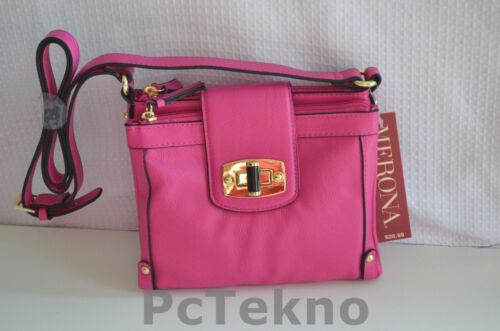 Merona Mini Fold-over style Crossbody Bag Purse Pink NWT