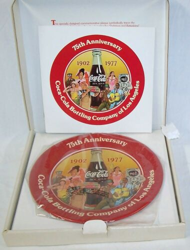 19021977 75th ANNIVERSARY COCA COLA BOTTLING COMPANY OF LOS ANGELES TRAY NOS