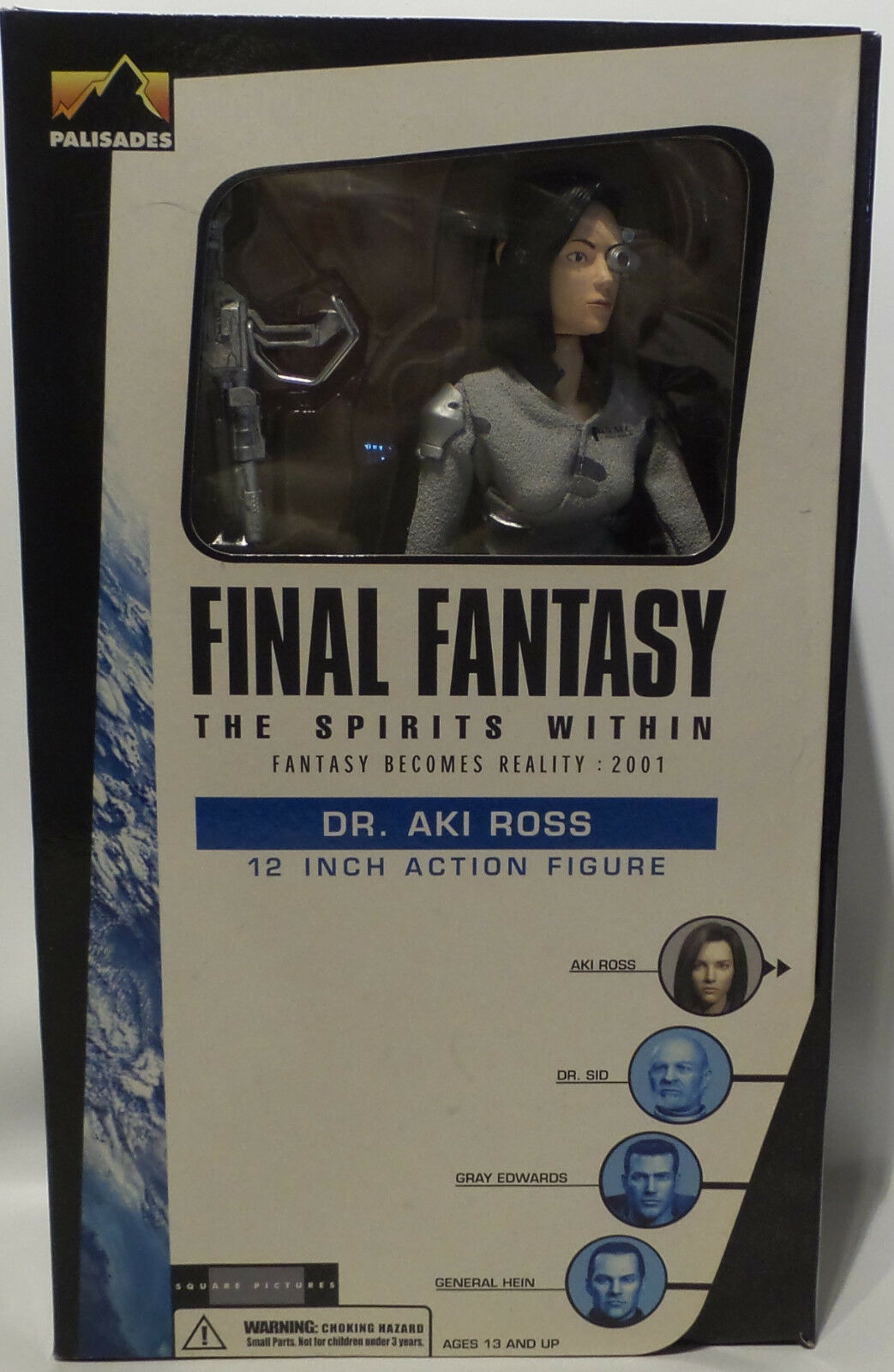 FINAL FANTASY THE SPIRITS WITHIN   DR. AKI ROSS BOXED ACTION FIGURE. (MLFP)