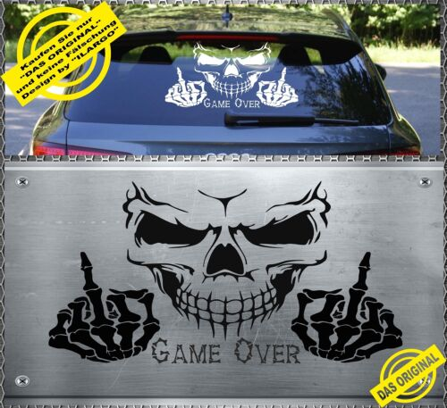Skull Fuck You Aufkleber Sticker Totenkopf Heckscheiben 59x35cm GAME OVER SFG-01